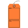 "Claim Check/Tag, Numbered 2 Places, 5.75"" x 2.875"", Fluorescent Orange Paper,2 Part, Looped String, Pack of 100"
