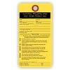 "CUTTING WELDING AND HOT WORK PERMIT, 5.75"" x 3"", White Paper, Plain, Pack of 100"