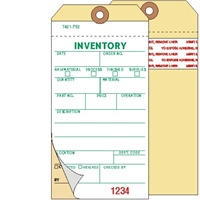 <!070>Inventory, 2-Ply Carbonless, Manila, w/Adhesive Strip, Box of 500, Plain, Sequence per factory