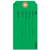 "OK, Numbered, 4.75"" x 2.375"", Dark Green Paper, Plain, Pack of 100"