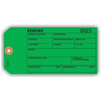 "REWORK, Numbered, 6.25"" x 3.125"", Dark Green Paper, Plain, Pack of 100"