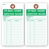 "EYE WASH / SHOWER INSPECTION RECORD , 5.75"" x 3"", White Paper, Plain, Pack of 100"