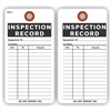 "INSPECTION RECORD, 5.75"" x 3"", White Paper, Plain, Pack of 100"