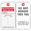 "FIRE EXTINGUISHER INSPECTION TAG - Last Hydro Test or Purchase Date, 5.75"" x 3"", White Paper,2 Sided, Plain, Pack of 100"