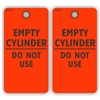 "EMPTY CYLINDER - DO NOT USE, 5.75"" x 3"", Red Paper,2 Sided, Plain, Pack of 100"