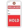 "RELEASE / HOLD, 5.75"" x 3"", White Paper,1 Stub, Plain, Pack of 100"