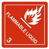 "Flamable Liquid, 4"" x 4"", Paper, Roll of 500"