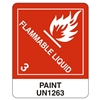 "Flamable Liquid, 5"" x 4"", Paper, Roll of 500"