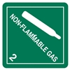 "Non-flammable Gas, 4"" x 4"", Paper, Roll of 500"
