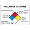 "Hazardous Material, 6"" x 4"", Vinyl, Pack of 100"