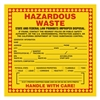 "Hazardous Waste - California, 6"" x 6"", Vinyl, Pack of 100"