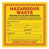 "Hazardous Waste, 6"" x 6"", Vinyl, Pack of 100"