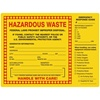 "Hazardous Waste Emergency, 8"" x 6"", Vinyl, Pack of 100"