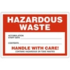"Hazardous Waste, 6"" x 4"", Vinyl, Pack of 100"