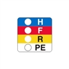 "HFRPE,  7/8"" x 7/8"", Paper, Dispenser Box of 750"