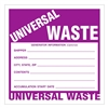 "Universal Waste,  6"" x 6"", Paper, Pack of 100"