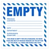 "Do Not Use EMPTY,  6"" x 6"", Paper, Pack of 100"