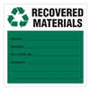"Recovered Material,  6"" x 6"", Vinyl, Pack of 100"