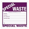 "Special Waste,  6"" x 6"", Vinyl, Pack of 100"