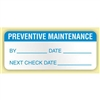 """Preventive Maintenance"", .625 x 1.5 in. Rectangle, Flexible Vinyl, 350 per Box"