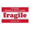 "Fragile, 5"" x 3"", Paper, Roll of 500"