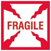 "Fragile, 4"" x 4"", Paper, Roll of 500"