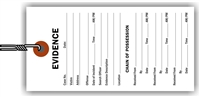 """Evidence"", 2.375 x 5.25 in., White Tyvek®, Wired, 100 per shrink pack"