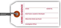 """Crime Evidence"", 1.875 x 3.75 in., 12Pt White paper, Wired, 100 per shrink pack"