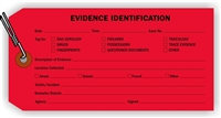 """Evidence Identification"", 3.125 x 6.25 in., 13Pt Red paper, Wired, 100 per shrink pack"
