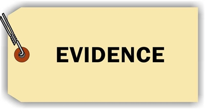 """Evidence"", 3.125 x 6.25 in., 13Pt Manila paper, Wired, 100 per shrink pack"