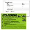 "WARNING, You are Illegally Parked for One..., 8"" x 5"", Scrape to Remove, 50 per Pack"