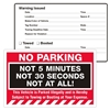"NO PARKING,…Not at All!, 8"" x 5"", Peel to Remove, 50 per Pack"