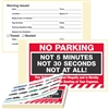 "NO PARKING,…Not at All!, 8"" x 5"", Peel to Remove, 50 per Book"