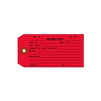 "<!030>REJECTED, 4-3/4"" x 2-3/8"", Red, Plain, Box of 1000 (10/Case)"