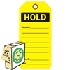 "<!0120>HOLD,  6-1/4"" x 3"", Fluorescent Yellow, In-a-Box of 100"