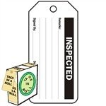 "<!010>Inspected, 6-1/4"" x 3"", White Polypropylene, In-a-Box of 100"