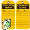 "<!011>Maintenance Record, 6-1/4"" x 3"", Fluorescent Orange, In-a-Box of 100"