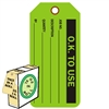 "<!0120>O.K. to Use,  6-1/4"" x 3"", Fluorescent Green, In-a-Box of 100"