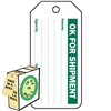 "<!010>OK for Shipment, 6-1/4"" x 3"", White Polypropylene, In-a-Box of 100"