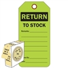 "<!0120>RETURN,  6-1/4"" x 3"", Fluorescent Green, In-a-Box of 100"