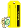 "<!0120>RE-WORK,  6-1/4"" x 3"", Fluorescent Yellow, In-a-Box of 100"