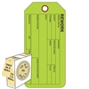 "<!0120>Rework,  6-1/4"" x 3"", Fluorescent Green, In-a-Box of 100"