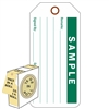 "<!010>Sample, 6-1/4"" x 3"", White Polypropylene, In-a-Box of 100"