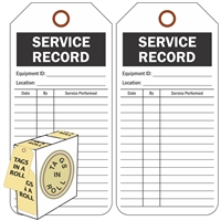 "<!010>Service Record, 6-1/4"" x 3"", White Polypropylene, In-a-Box of 100"