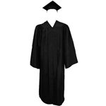 Matte Black Cap, Gown and Tassel