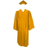 Matte Gold Cap, Gown and Tassel