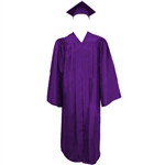 Matte Purple Cap, Gown and Tassel