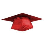 Shiny Red Graduation Cap
