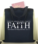 FAITH Canvas Tote Bag