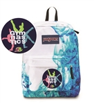 Gymnastics small Blue White Drip Jansport embroidered book bag